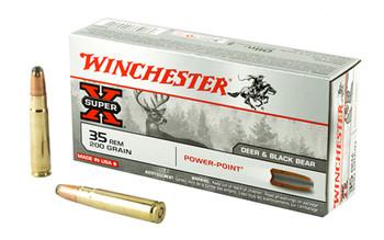 Winchester Ammunition Super-X, 35REM, 200 Grain, Power Point, 20 Round Box X35R1, UPC : 020892200142