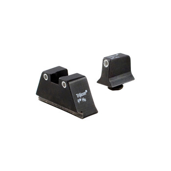 Trijicon Bright  Tough Suppressor Height Night Sights, Fits Glock 17/19/22/23/26/27/31/32/33/34/35/37/38/39, Black, Tritium Front/Rear, Green 3 Dot GL201-C-600649, UPC :719307211162