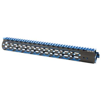 "Leapers, Inc. - UTG UTG PRO, M-Lok Super Slim Free Floating Rail, Black/Blue 2-Tone, Fits AR-15, 15"", Includes One M-LokPicatinny Rail Section One M-Lok QD Sling Swivel Adaptor and Barrel Nut Wrench MTU019SSMB2, UPC :4717385552692"