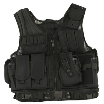 Leapers, Inc. - UTG Sportsman Tactical Scenario Vest, Black PVC-V568BT, UPC :4712274520752