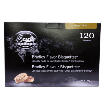 Bradley Hickory Bisquettes 120 Pack, UPC :689796150122