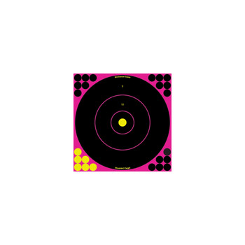 Birchwood Casey Shoot-N-C Pink 12in Bulls-Eye Target 12pk, UPC : 029057340372