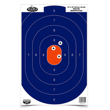 Birchwood Casey 12in x 18in Blue/Orange Silhoutte-50 Targets, UPC : 029057357202