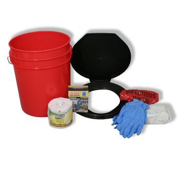 Ready America Lockdown Toilet Bucket Kit - 1-4 Person, UPC :753962716402
