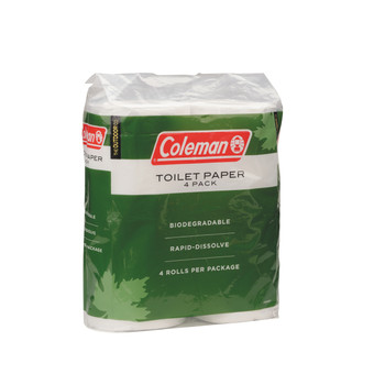 Coleman 4 Pack Toilet Paper Green/White 2000014861, UPC : 076501914702