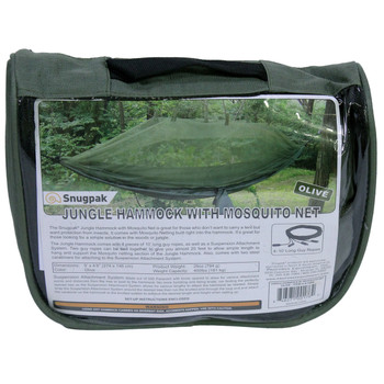 Snugpak Jungle Hammock with Mosquito Net In Olive, UPC :846271001762
