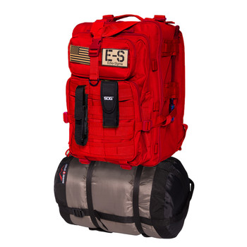 Echo-Sigma Emergency Bug Out Bag Red, UPC :638170588792