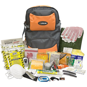 Lifeline Two Person 72 Hour Premium Kit 146 Pieces, UPC :845174004122