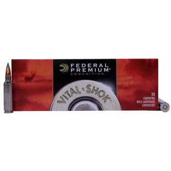 Federal Premium Vital-Shok Ammunition 300 Winchester Short Magnum (WSM) 150 Grain Nosler Ballistic Tip Box of 20, UPC : 029465095062