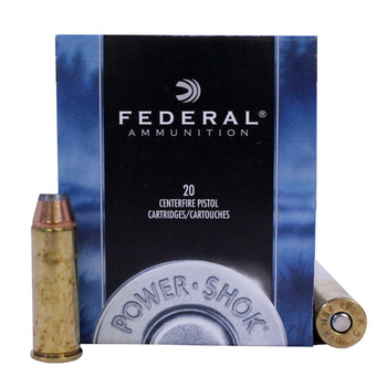 Federal Power-Shok Ammunition 44 Remington Magnum 180 Grain Jacketed Hollow Point Box of 20, UPC : 029465093082