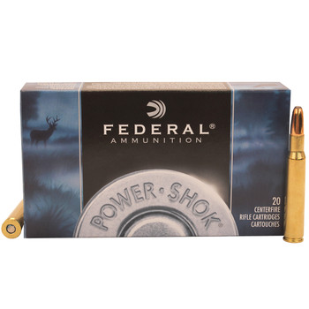 Federal Power-Shok Ammunition 30-06 Springfield 220 Grain Speer Hot-Cor Soft Point Box of 20, UPC : 029465091392