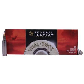 Federal Premium Vital-Shok Ammunition 270 Winchester Short Magnum (WSM) 150 Grain Nosler Partition Box of 20, UPC : 029465096762