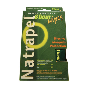 Natrapel Deet Free Insect Repellent Wipes Pack of 12, UPC : 044224060952