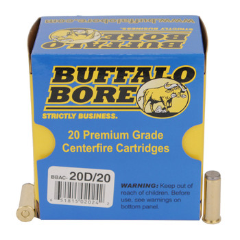 Buffalo Bore Ammunition 38 Special 150 Grain Lead Wadcutter Box of 20, UPC :651815020242