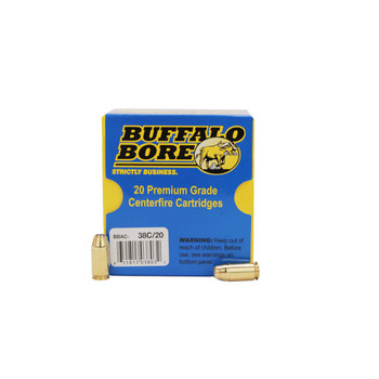 Buffalo Bore Ammunition 45 GAP 230 Grain Jacketed Hollow Point Box of 20, UPC :651815038032