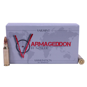 Nosler Varmageddon Ammunition 221 Remington Fireball 40 Grain Hollow Point Flat Base Box of 20, UPC : 054041651202