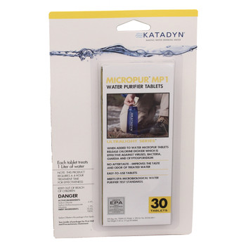 Katadyn Micropur Water Purification Tablets Pack of 30, UPC :604375136922