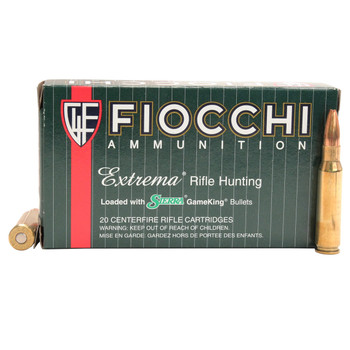 Fiocchi Extrema Ammunition 308 Winchester 165 Grain Sierra GameKing Hollow Point Boat Tail Box of 20, UPC :762344704302