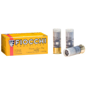 "Fiocchi Shooting Dynamics Low Recoil Ammunition 12 Gauge 2-3/4"" 1 oz Rifled Slug Box of 10, UPC :762344706092"
