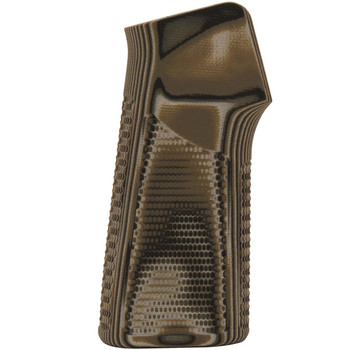 AR15 / M16 15 Degree Vertical No Finger Groove Piranha Grip G10 - G-Mascus Green, UPC :743108131282