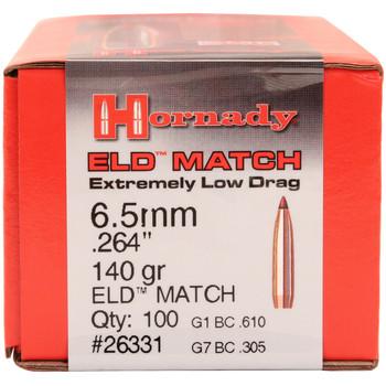 BULLET 6.5MM .264 140GR ELD-M 100/BX, UPC : 090255263312