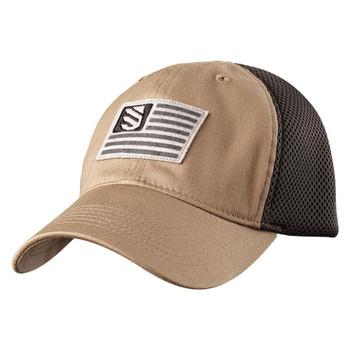 FOAM MESH BACK FITTED CAP STN/SLT MED/L, UPC :648018737152