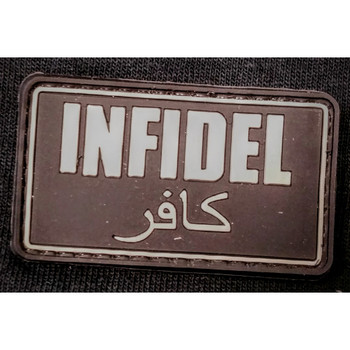 RUBBER MORALE PATCH INFIDEL, UPC :642896554702