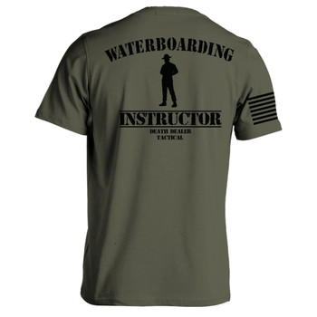 WATERBOARDING INSTRUCTOR T-SHIRT OD MED, UPC :616086526282