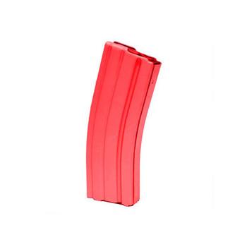 AR15 223 ALUM RED BLK FLWR 30RD MAG, UPC :766897411212