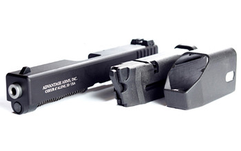"Advantage Arms Conversion Kit, 22LR, 4.49"" Barrel, Fits Glock Generation 4 17/22, Black Finish, 1-10Rd Magazine, Includes Range Bag AAC17-22G4, UPC : 094308000121"