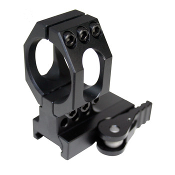 American Defense Mfg. Mount, Fits Aimpoint, Picatinny, Quick Release, Standard Height, Black 68, UPC :818503010101