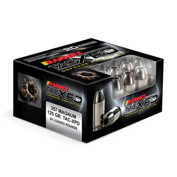 Barnes TAC-XPD, 357 MAG, 125 Grain, TAC-XP, Hollow Point, Lead Free, 20 Round Box BPD357M2, UPC :716876135721