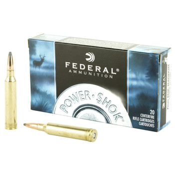 Federal PowerShok, 7MM REM, 150 Grain, Soft Point, 20 Round Box 7RA, UPC : 029465084431