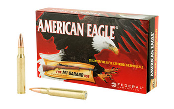 Federal American Eagle, 30-06, 150 Grain, Full Metal Jacket, 20 Round Box AE3006M1, UPC : 029465060411