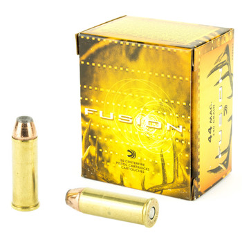 Federal Fusion, 44MAG, 240 Grain, Hollow Point, 20 Round Box F44FS1, UPC : 029465098391