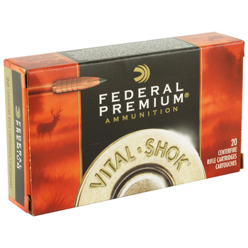 Federal Vital-Shok, 308WIN, 150 Grain, Trophy Copper, Lead Free, 20 Round Box P308TC3, UPC : 029465063481