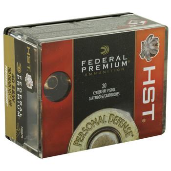 Federal Premium, 40S&W, 180 Grain, Jacketed Hollow Point, 20 Round Box P40HST1S, UPC : 029465063931