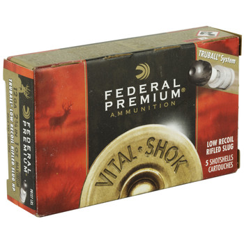 "Federal Vital-Shok, 12 Gauge, 2.75"", 1oz, TruBall, Low Recoil, 5 Round Box PB127LRS, UPC : 029465025281"