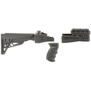 Advanced Technology TactLite, Stock, Fits AK-47, Scorpion Butt Pad, Side Folder Stock, Pistol Grip, Forend, Scorpion Recoil System, Black Finish B.2.10.1250, UPC :758152940711