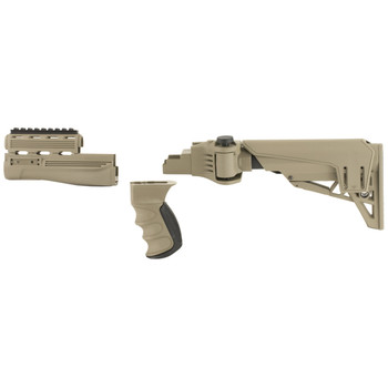Advanced Technology Strikeforce TactLite, Stock, Fits AK-47, 6 Position Collapsible Stock, Scorpion Recoil System, Adjustable Cheekrest, Flat Dark Earth Finish B.2.20.1250, UPC :758152689511