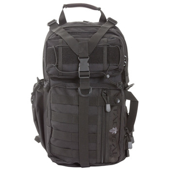 """Allen Lite Force Tactical Sling Pack, Black Endura Fabric, 18""""x9.75""""x7.5"""", 1200 Cubic Inches, Sling Design, Padded Adjustable Single Shoulder Strap, Concealed Carry Compatable, Large Main Compression Strap, Water Bottle And Sunglasses Pockets, Hydrat"""