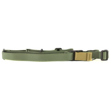 Blue Force Gear Sling, Fits AK, Standard, Molded Acetal Adjuster, OD Green Finish K-SP-0046-OD, UPC :812114022461