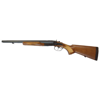 """Century Arms Coach Gun, Side by Side, 12 Gauge, 3"""" Chamber, 20"""" Barrel, Blue Finish, Wood Stock SG1090-N, UPC :787450008571"""