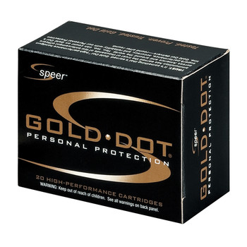 CCI/Speer Speer Gold Dot, 38 Special, 135 Grain, Hollow Point, +P, 20 Round Box 23921, UPC : 076683239211