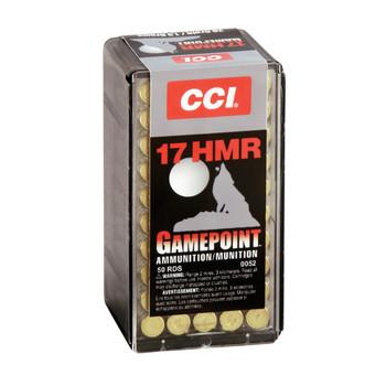 CCI/Speer Gamepoint, 17HMR, 20 Grain, Jacketed Soft Point, 50 Round Box 52, UPC : 076683000521