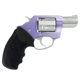 "Charter Arms Lavender Lady, Revolver, 32 H&R, 2"" Barrel, Aluminum Frame, Lavender/Stainless Steel Finish, Rubber Grips, 5Rd, Fired Case, Fixed Sights 53240, UPC :678958532401"