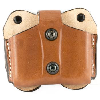 Desantis Double Magazine Pouch, Single Stack 9MM/40, Ambidextrous, Tan Leather A01TJEEZ0, UPC :792695227311
