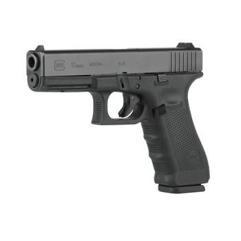 "Glock 17 Gen 4, Safe Action, Full Size Pistol, 9MM, 4.48"" Barrel, Polymer Frame, Matte Finish, Fixed Sights, 10Rd, 3 Magazines, Glock OEM Rail PG1750201, UPC :764503652011"
