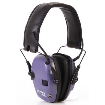 Howard Leight Impact Sport, Electronic Earmuff, Folding, Purple R-02522, UPC : 033552025221