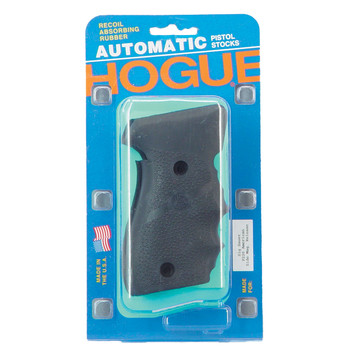 Hogue Grips Rubber Grip, Fits Sig Sauer P220 American, Finger Grooves, Black 20000, UPC :743108200001